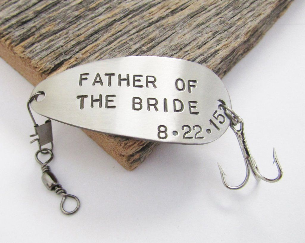 Father of the Bride Gift - Customized Fishing Lure Personalized with ...