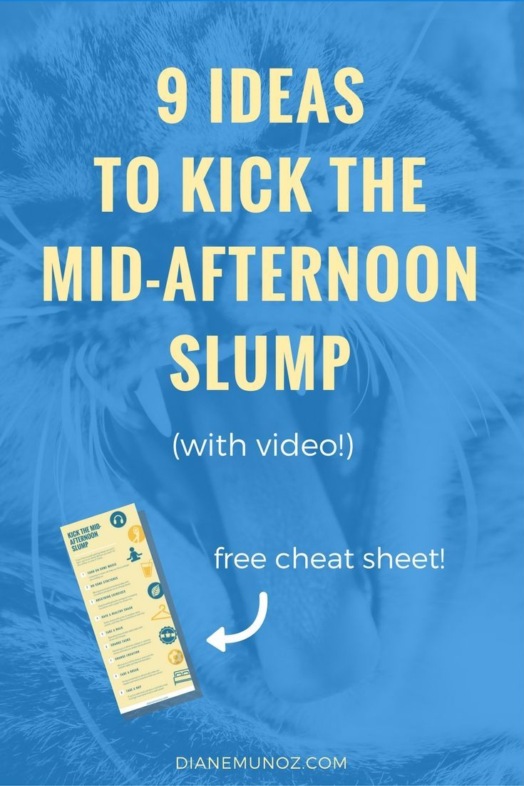 Afternoon Slump Tips, How To Stay Awake During The Day