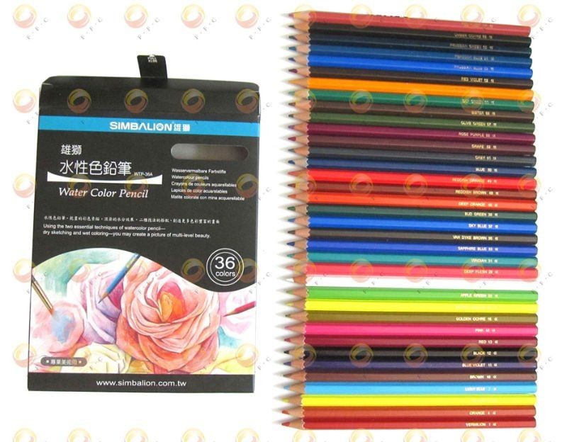 Colored-pencils-watersoluble-36-Color-Set-Simbalion-Watercolor ...