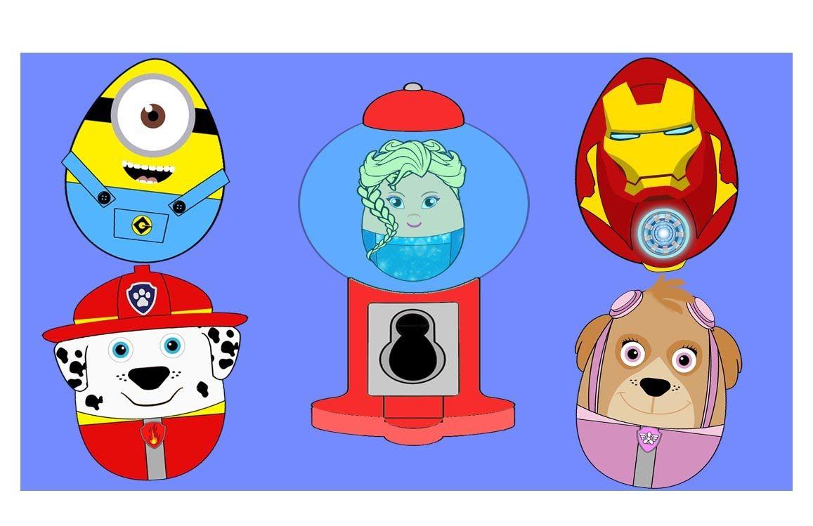 New Kids Surprise Eggs Marshall Paw Patrol Avengers Iron Man Disney Froz.