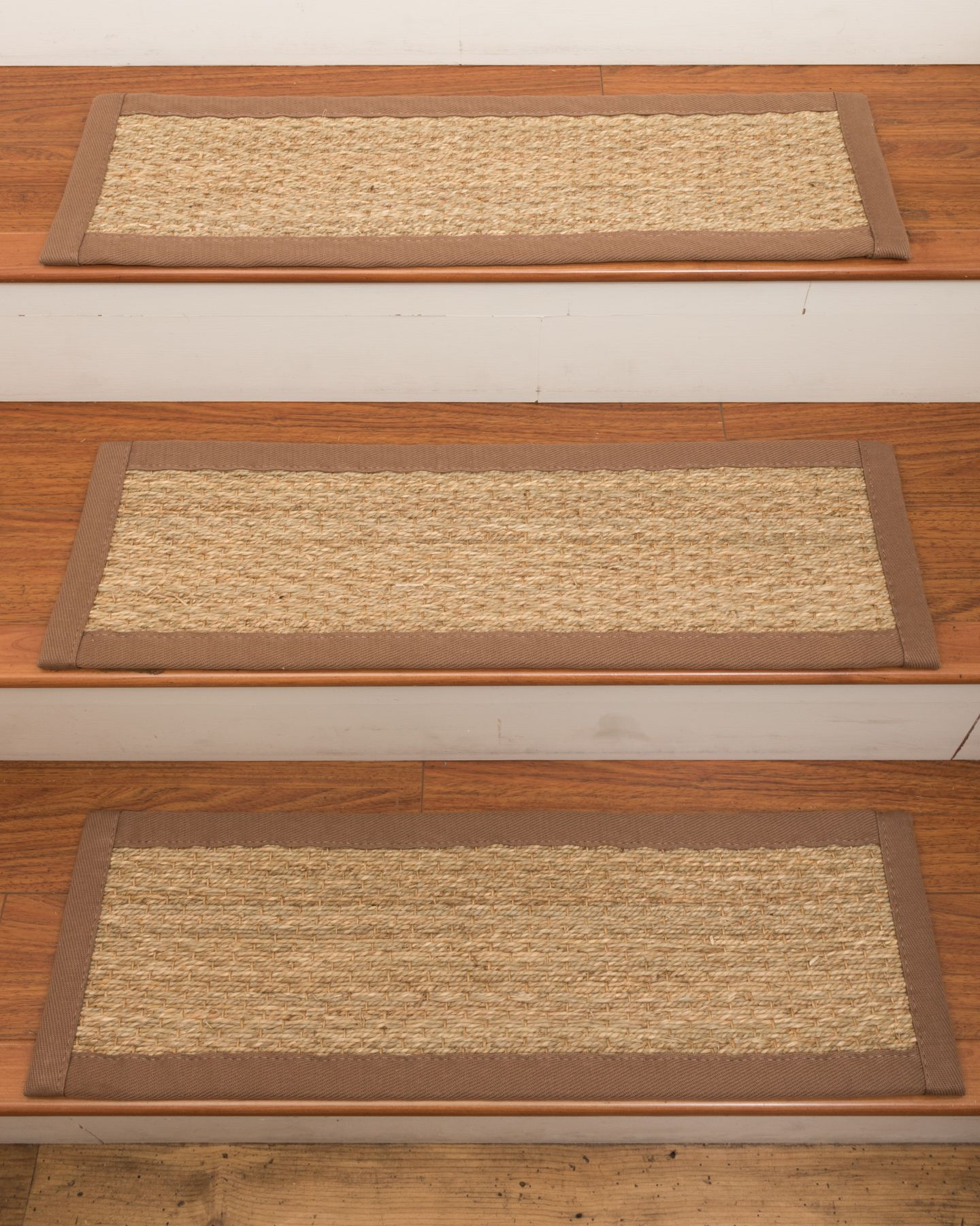 Best Half Panama Seagrass Carpet Stair Treads New Carpet 400 x 300