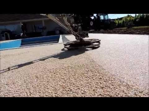 Elastopave BASF pose sol en résine pour revetement de sol permeable