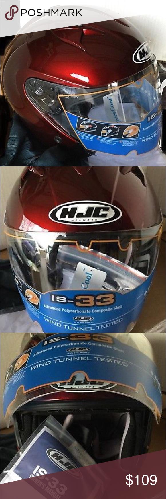 2X WINE IS33 OPENFACE MOTORCYCLE HELMET HJC Boutique