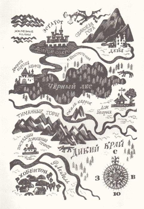 The Hobbit Book Map