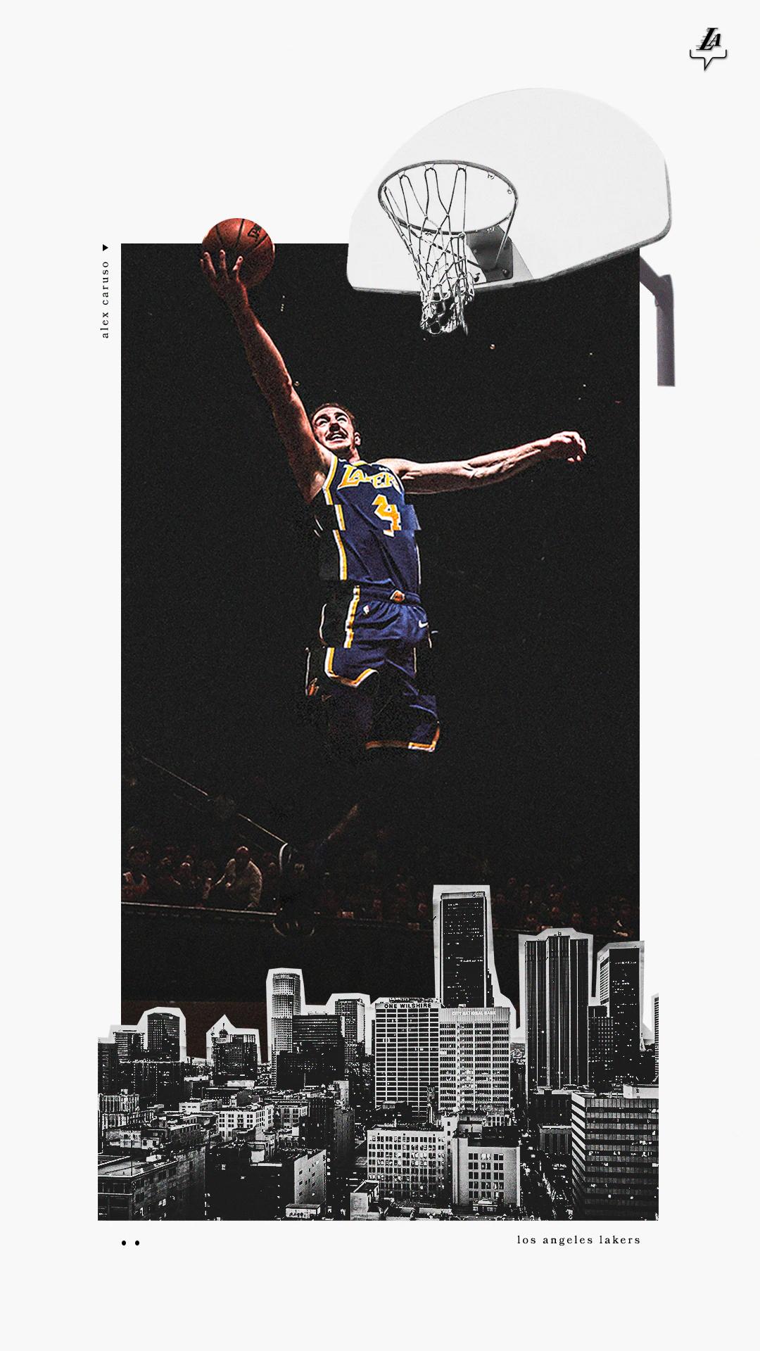 Alex Caruso Wallpaper In 2020 Lakers Wallpaper Sports Graphic Design Sports Posters Basketball