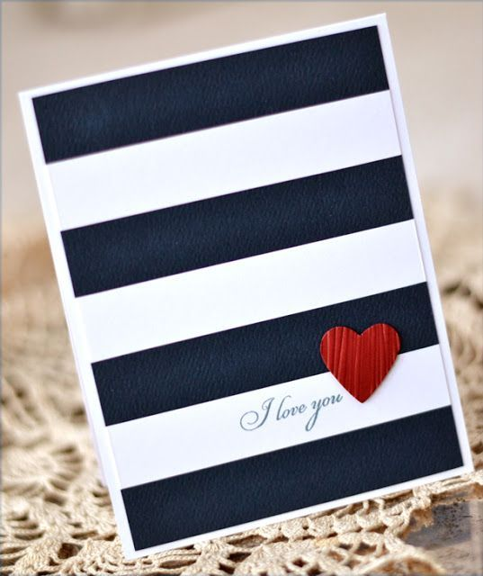 handgefertigte Karte ... Marine und Weiß mit einem Schuss Rot ... kühner, grafischer Stil .....  #einem #grafischer #handgefertigte #karte #kuhner #marine #schuss,