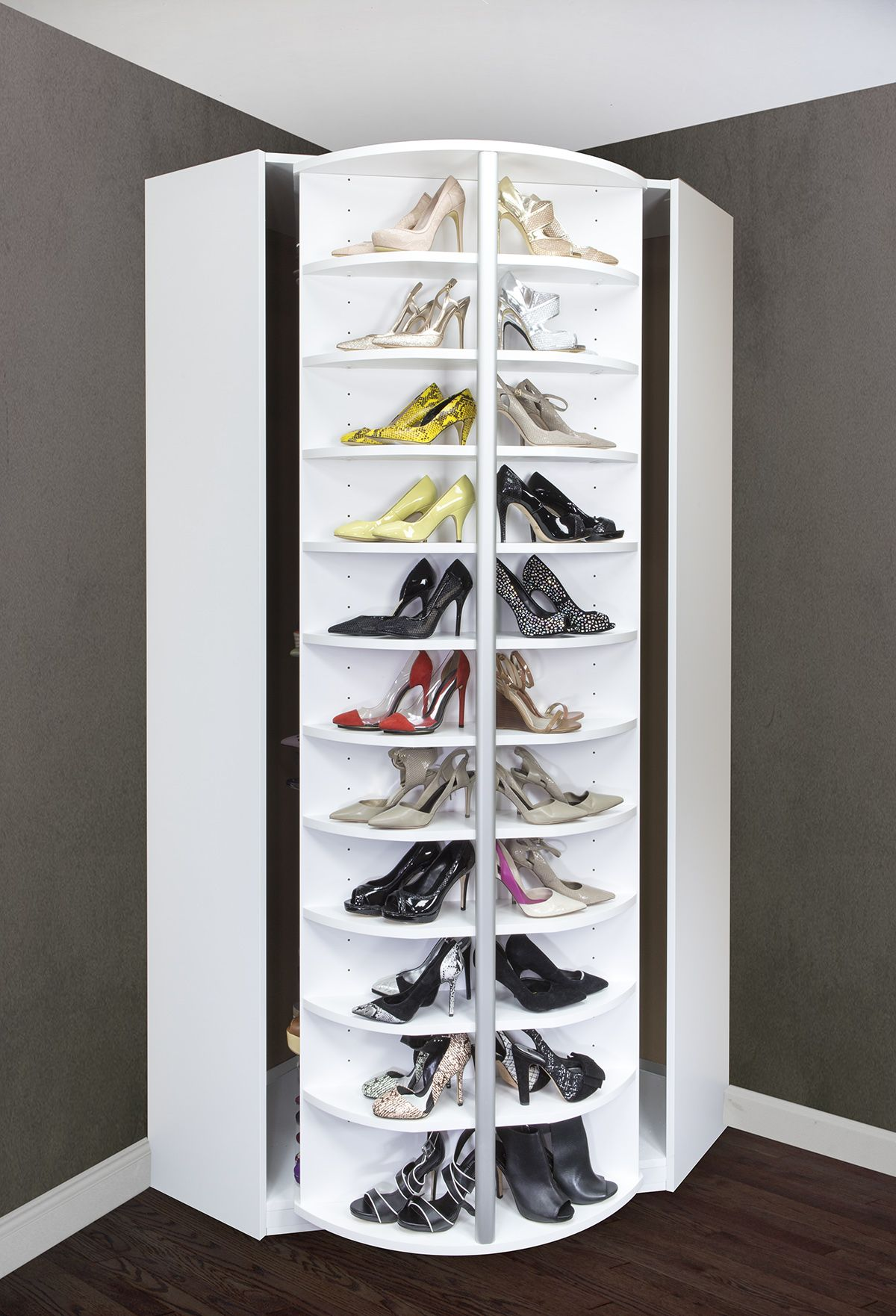 The Best Corner Closet A Revolving Shoerack Armadio Scarpiera
