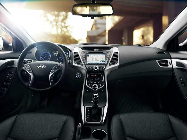 2014 Hyundai Elantra Sedan Interior Black Leather