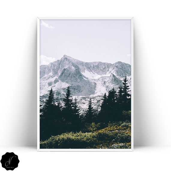 Mountain Wall Art Prints Landscape Printable Wall Art Pine Trees Print Nature Wall Art Forest Print Downloadable Art Mountains Poster Mountain Wall Art Wall Art Prints Nature Wall Art