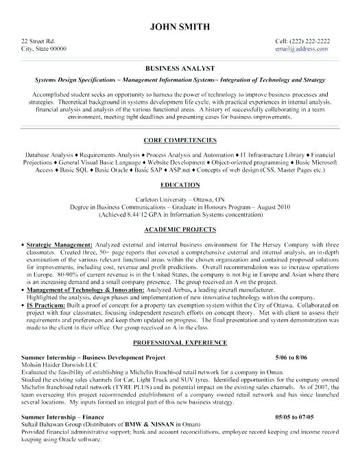 Business Administration Resume Template Click Here To Download This