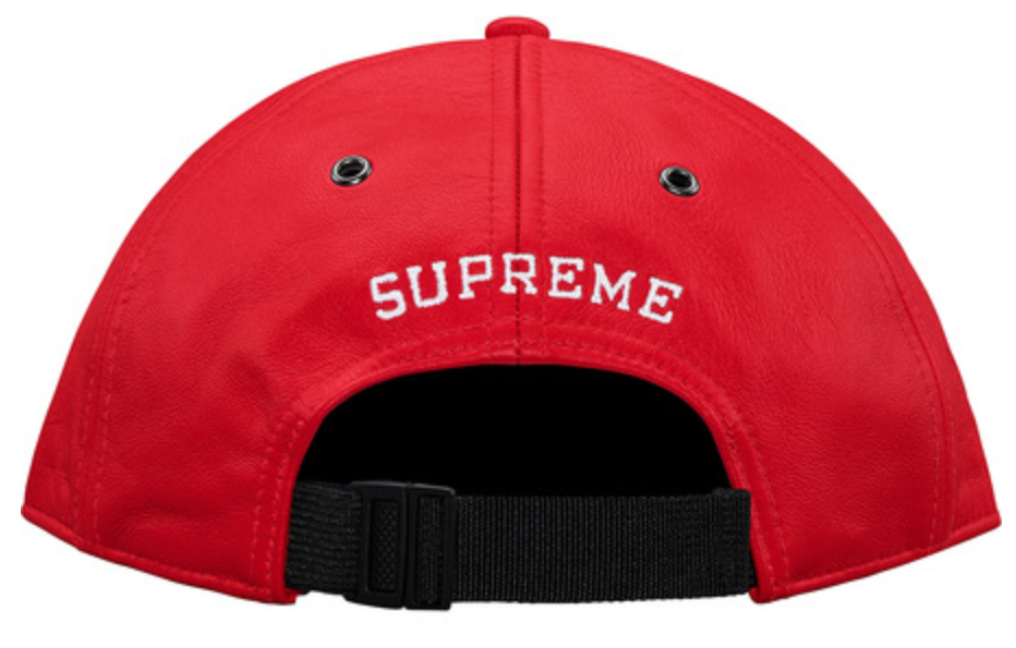 9de8726b4 Details about New Supreme X The North Face Red Leather 6 Panel Strap ...
