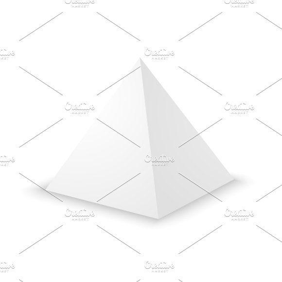 Blank White Pyramid Graphics Blank White Pyramid On White