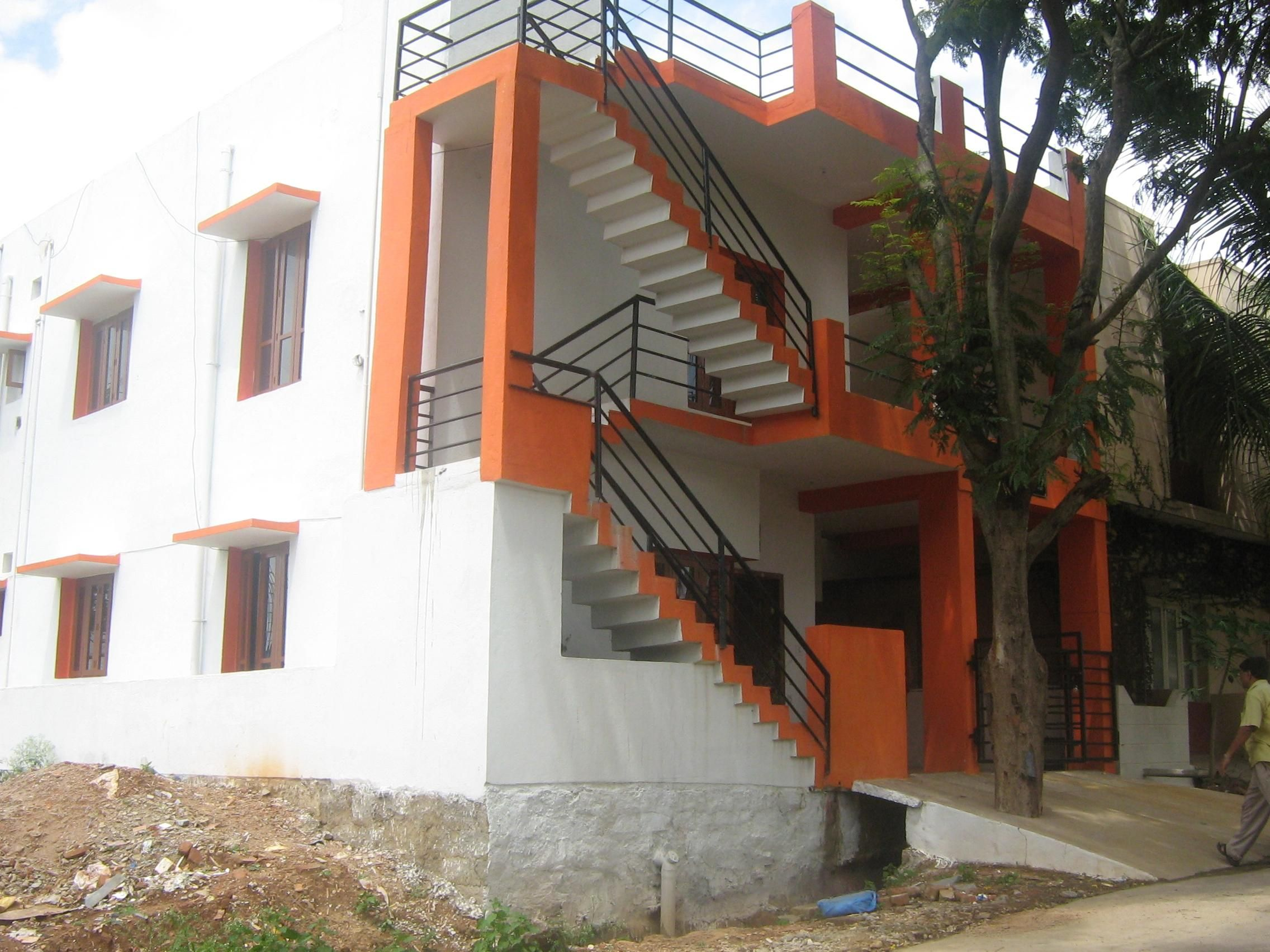 Amazing of Outer Staircase Design External Folded Stairs ...