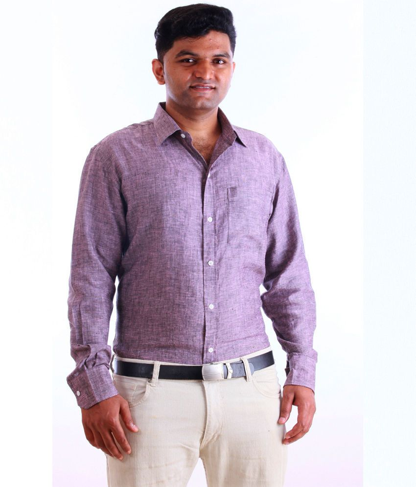 C O B R I O Pure Linen Shirt Semi Fit M Finely Crafted 100 Pure Linen Shirt With Single Chest Pocket Front Placket Shirts Casual Shirts Long Sleeve Shirts