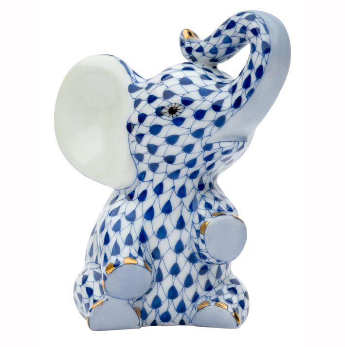 Herend Make A Wish Elephant Porcelain Figurine - Limited Edition of 500