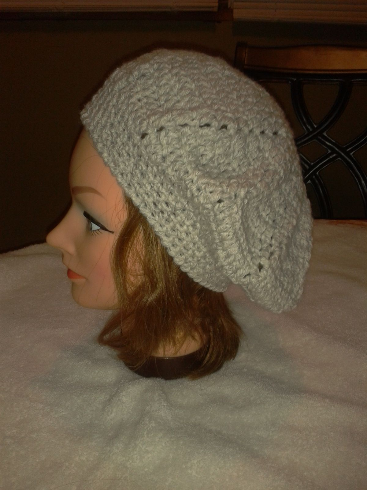 slouch beret grey
