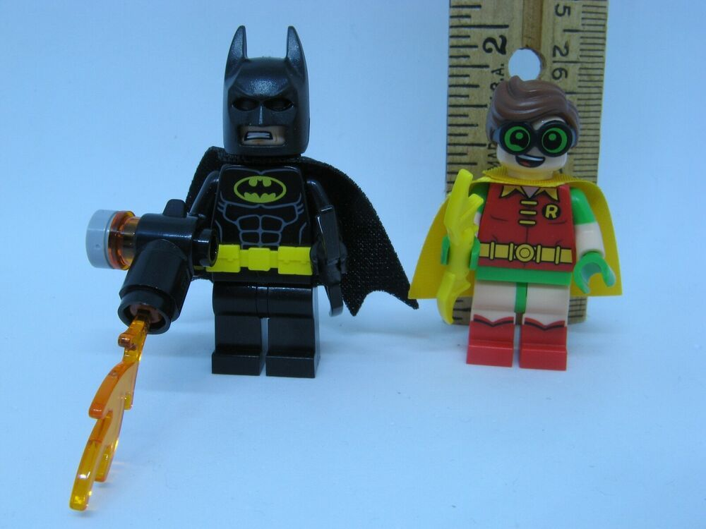 Lego BATMAN and ROBIN MINIFIGURE ONLY Lot Movie Authentic