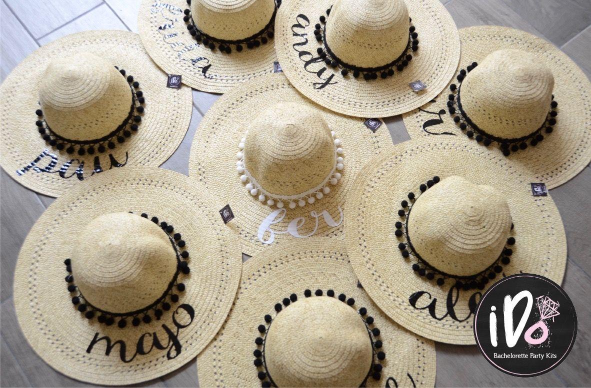 Sombreros playeros para despedidas de soltera www.idokits.com ... f8d5a75c193