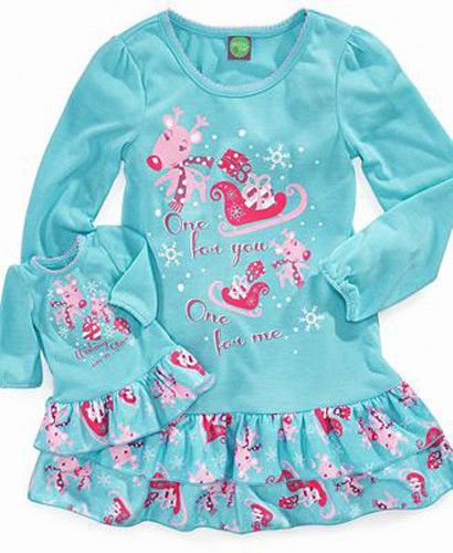 Reindeer Nightgown PLUS MATCHING for 18