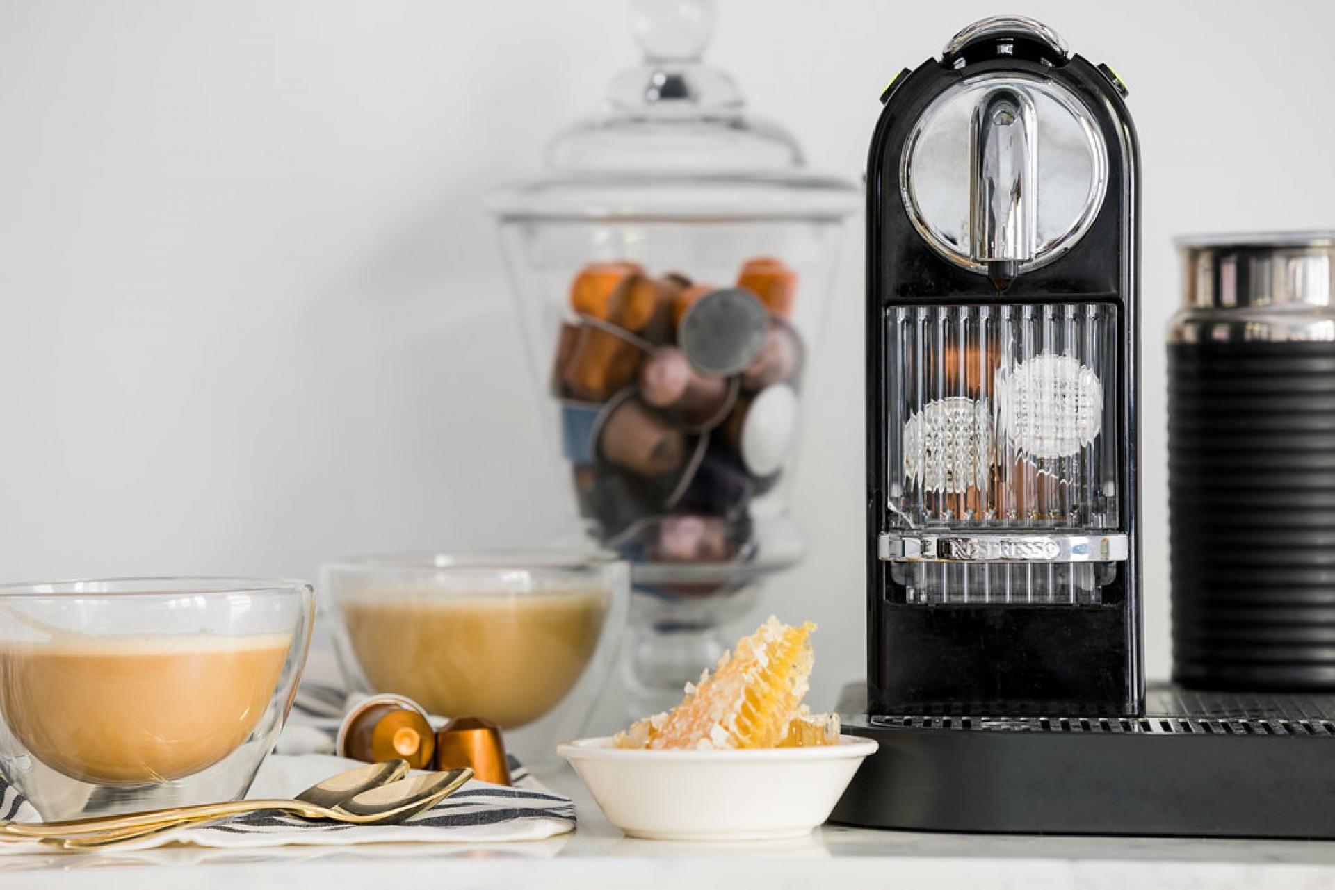 Honey almond milk coffee receta