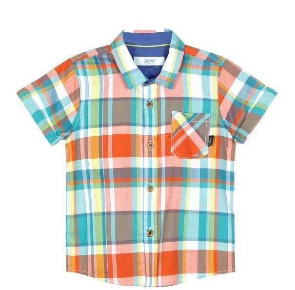 796e9693b90b6 Ted Baker Baby Boys Shirt Checked Colourful Designer 9-12 Months ...