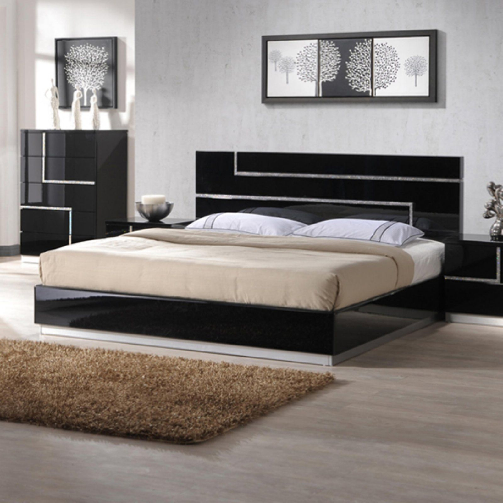 J&M Furniture Lucca Platform Bed   Contemporary bed ...