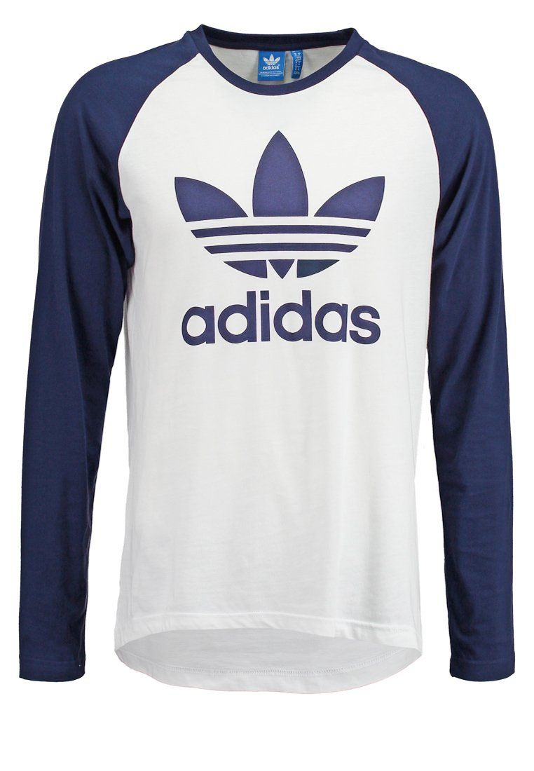 15f60dd7ef81a adidas Originals Camiseta manga larga - white conavy - Zalando.es ...