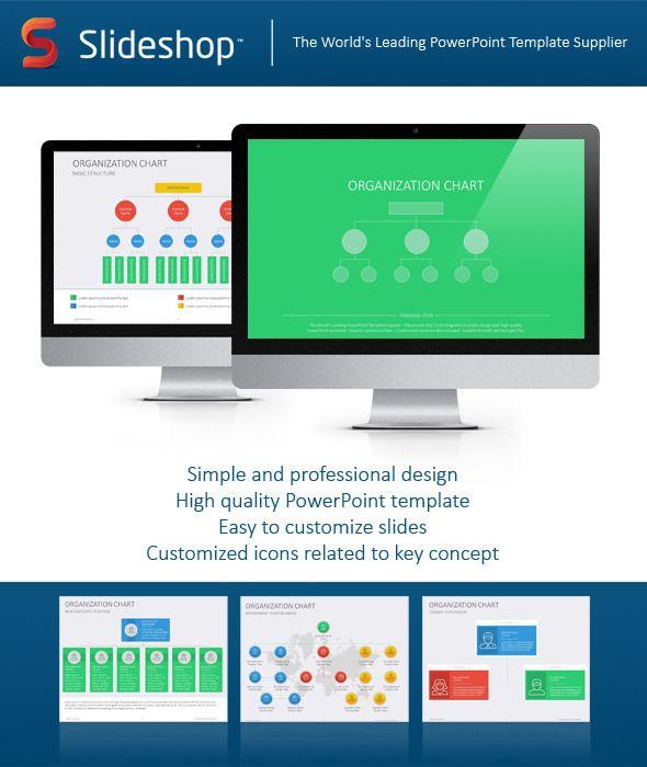 Organizational Chart Flat  Creative Powerpoint Templates