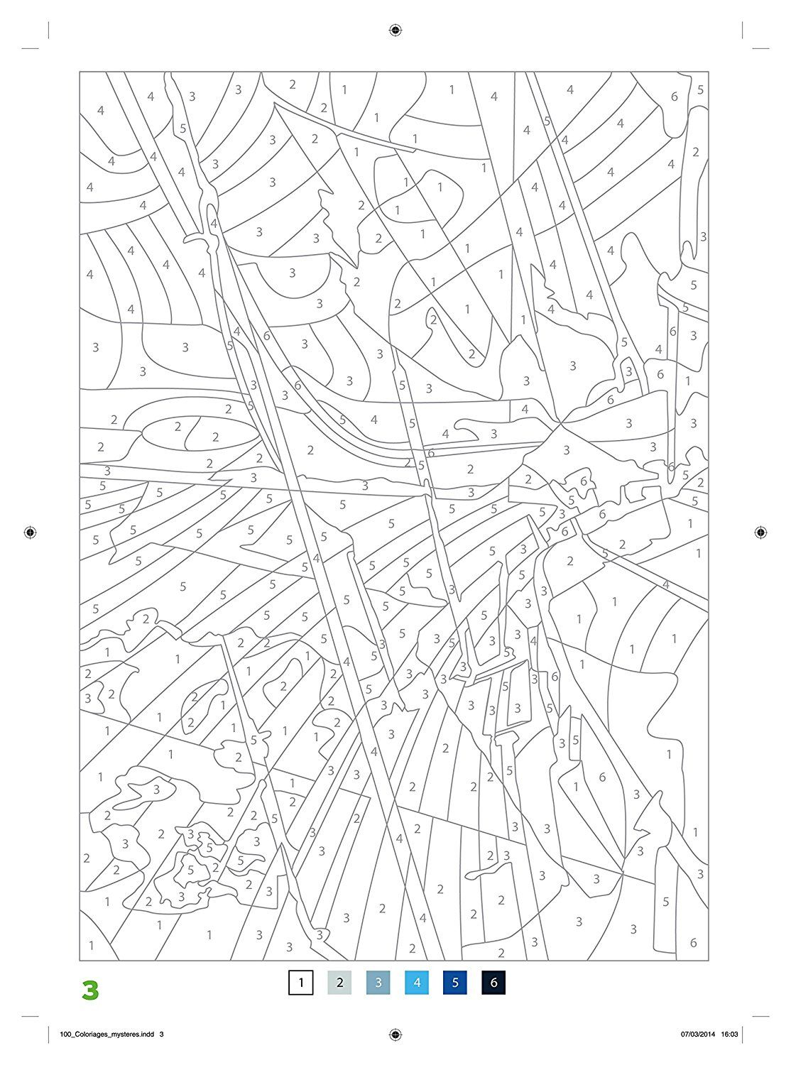 100 Coloriages Mysteres Art Therapie Color By Number Coloriage