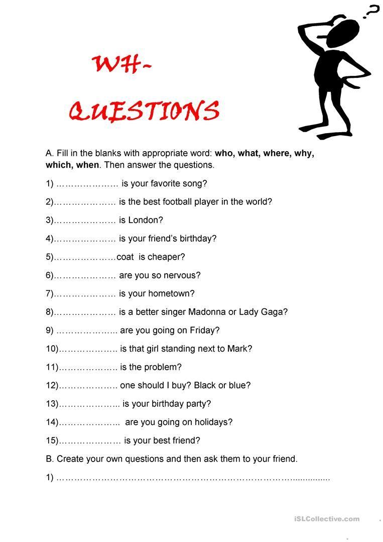 Whquestions Questions et Quiz
