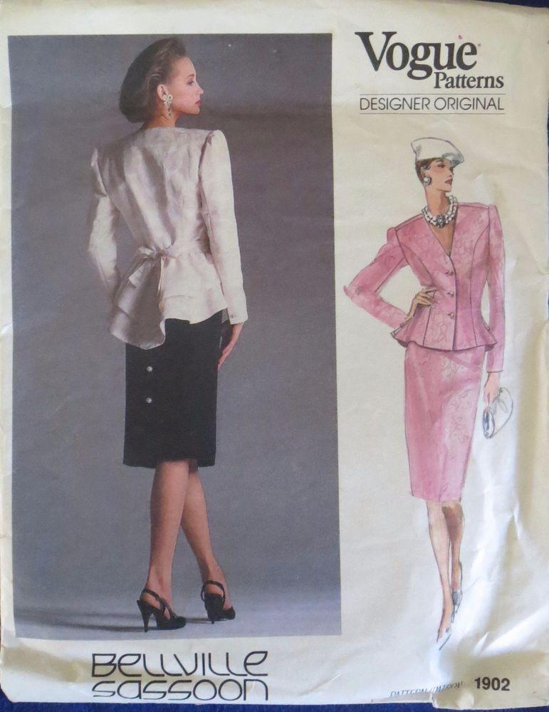 Vogue 1902 Designer Original Bellville Sassoon Dress: Top & Skirt ...