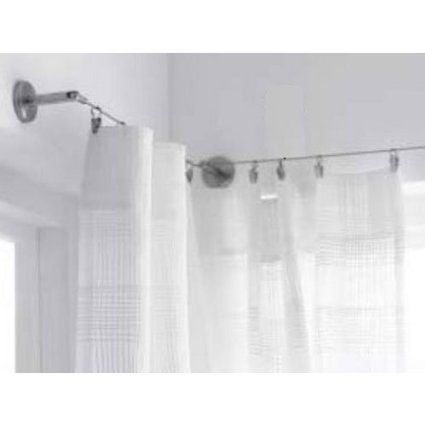 Amazon Com Curtain Wire Rod Set Stainless Steel Multi Purpose