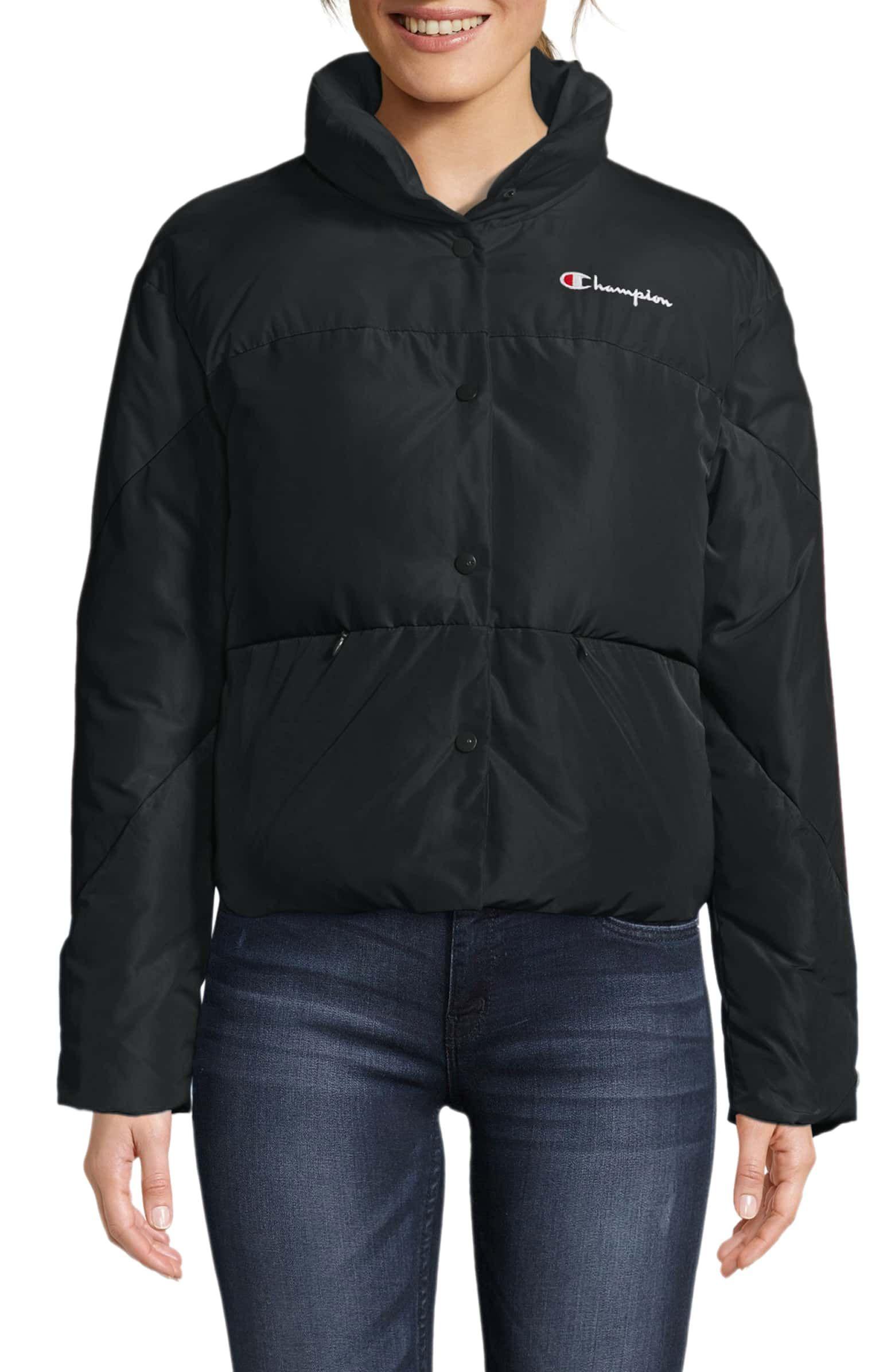 Oversized Short Puffer Coat, Main, color, BLACK | Wishlist