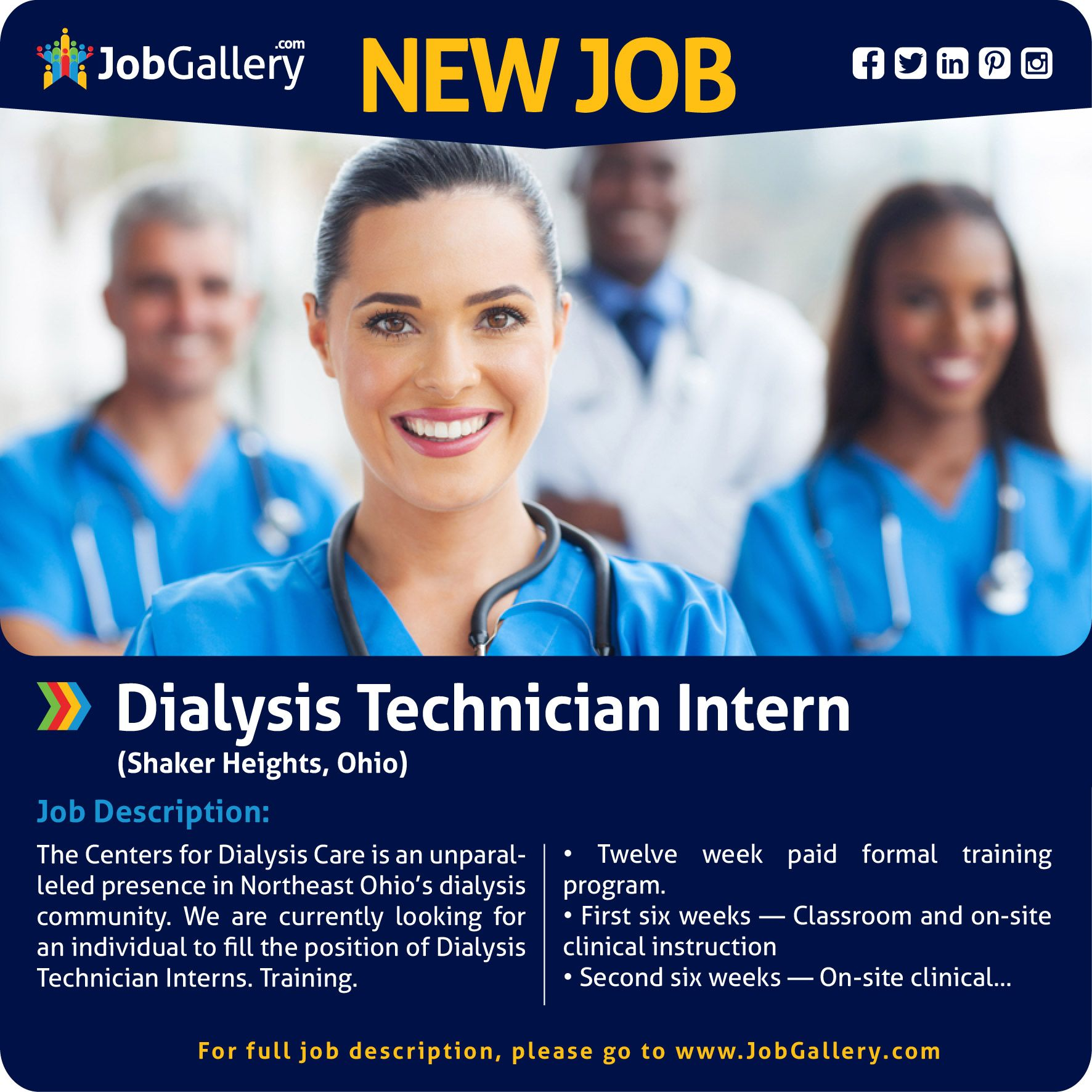 Seeking A Dialysis Technician Intern  Shaker Heights Oh Jobs
