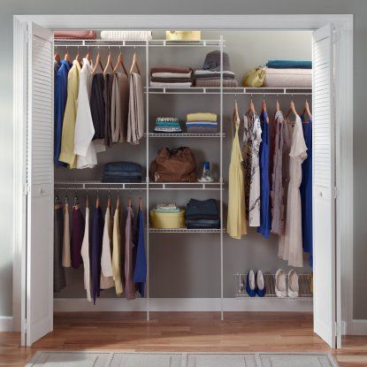 Closetmaid 5 8 Ft Closet Organizer With Shoe Rack With Images