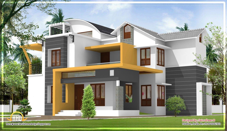 Modern Contemporary House Plans Kerala Unique Modern Home Kerala House Design House Styles House Paint Exterior