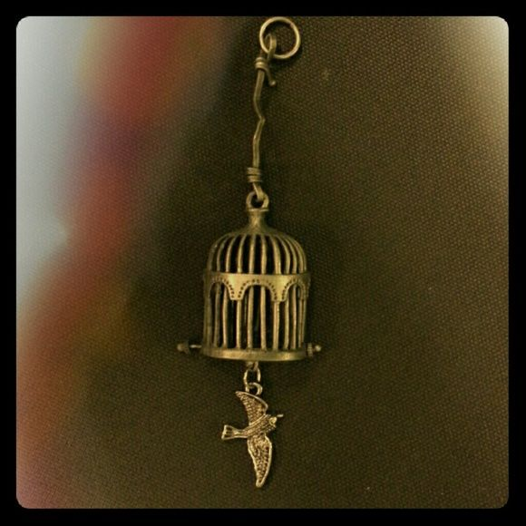 Free Caged Bird Pendant Handmade metal pendant. Just needs a chain. Jewelry Necklaces