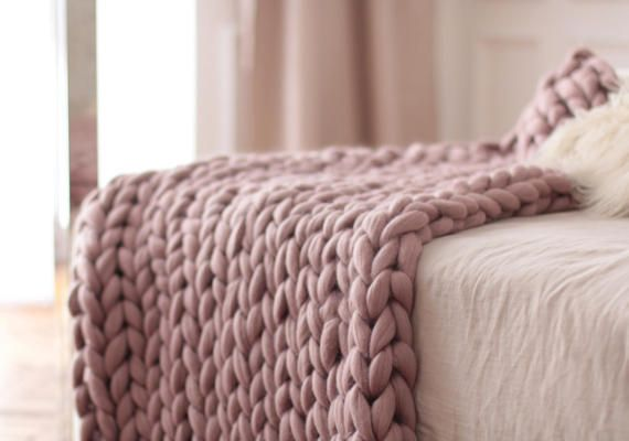 Dusty Pink Throw Blanket