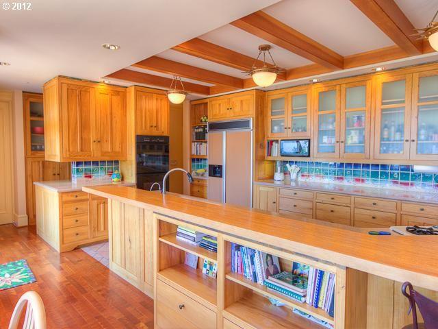 Kitchen Designers Portland Oregon Classy Gorgeous Orange Wood #kitchen Waqua Blue Backsplash In Portland Review