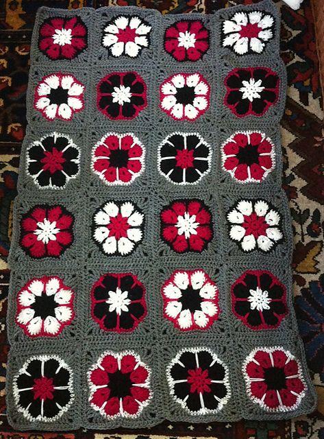 african flower gratis mönster