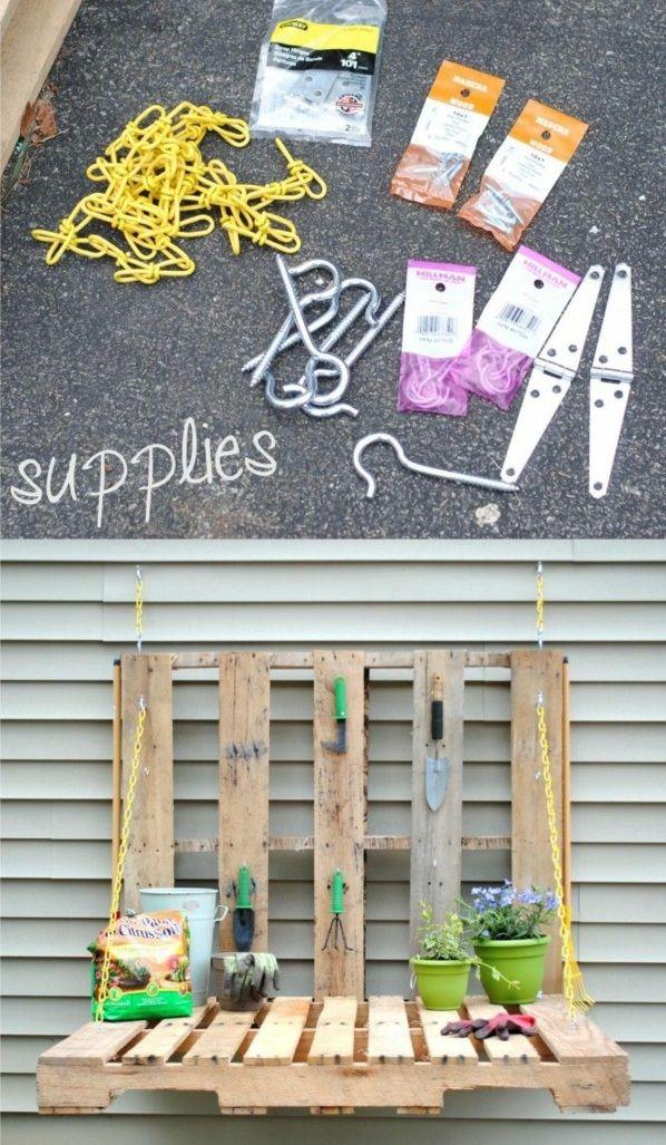Gartentisch selber bauen – Setzen Sie etwas Kreativität und Handwerk ein #gartenupcycling