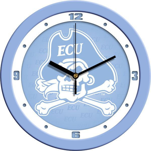 East Carolina Pirates Blue Wall Clock