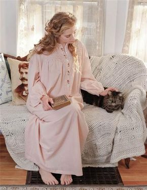 April Cornell Teresa Nightie   Smocked Nightgown