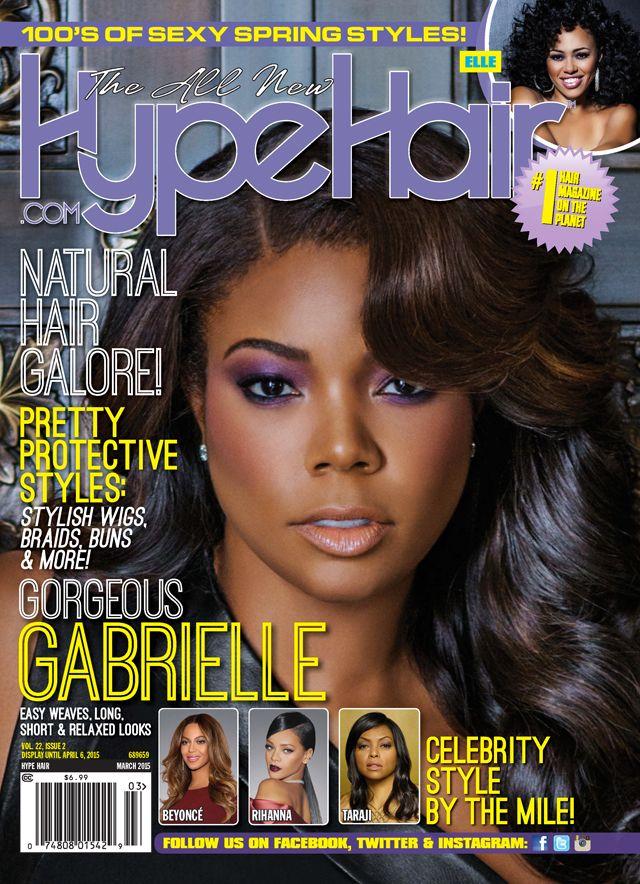 Gabrielle Union covers Hype Hair Magazine | Gabrielle Union | Hype ...