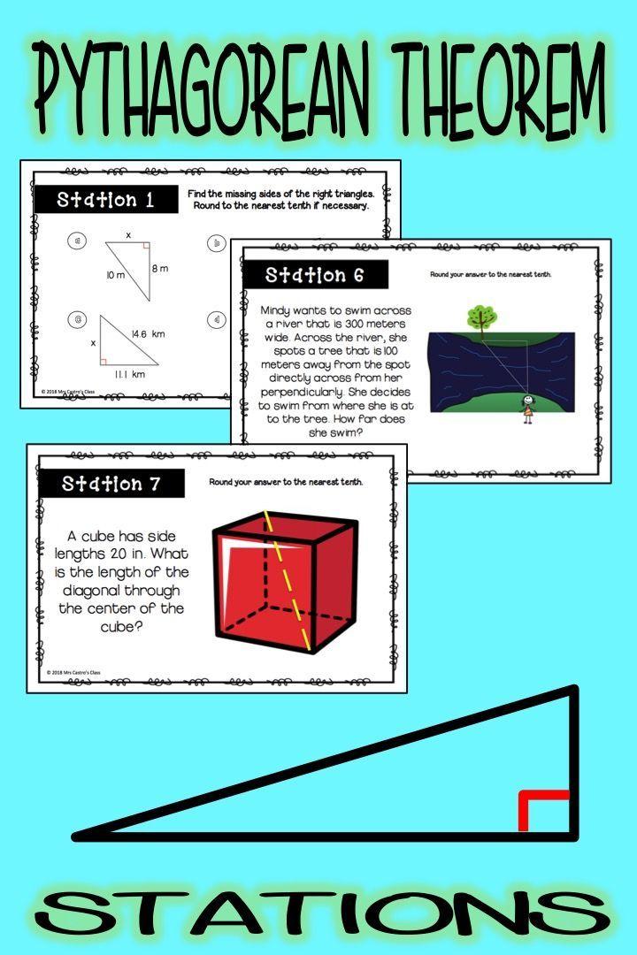 Pythagorean Theorem Stations Activity Pythagorean