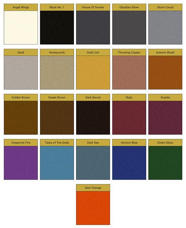 Pure Metallic Color Chart