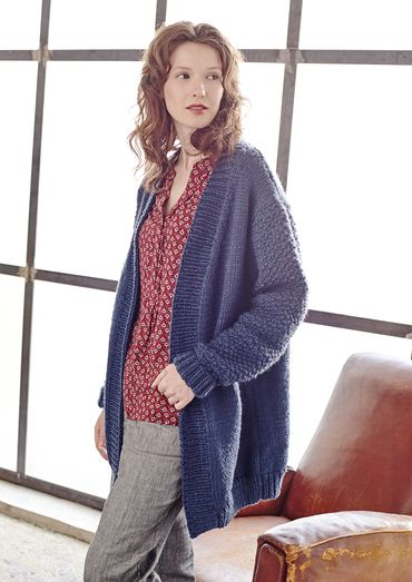 Tyburn Cosy Winter Cardigan Free Knitting Pattern Download Easy
