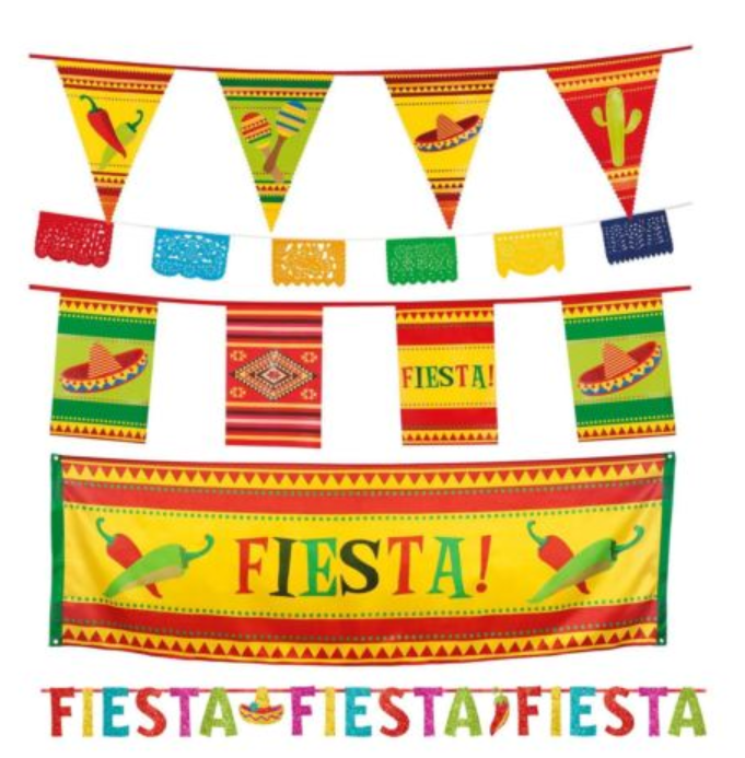 Wild West Mexican Fiesta Party Pennant Flag Hanging Banner Bunting Decoration Mexican Fiesta Party Mexican Fiesta Fiesta Party