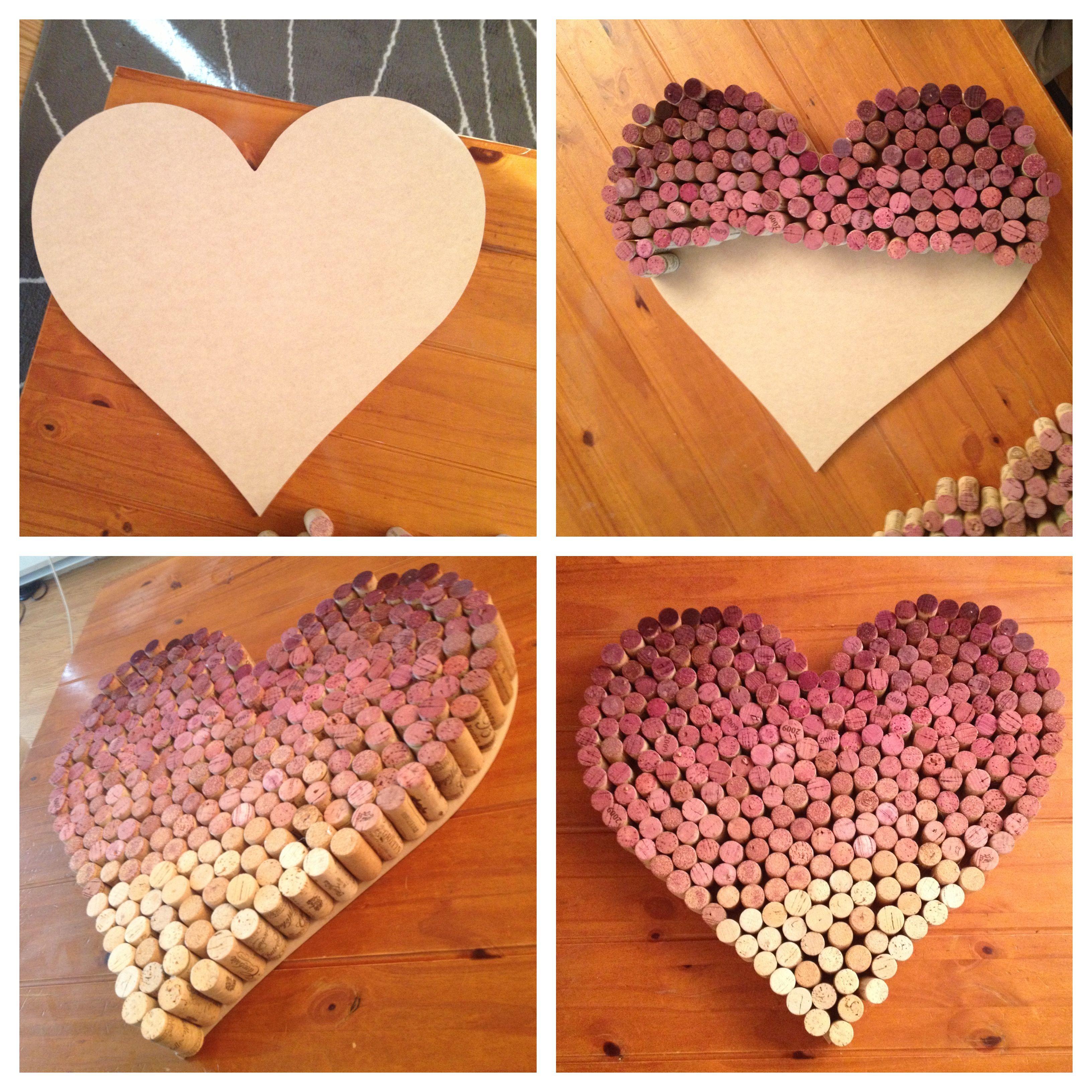 Wine Cork Art: Ombre Wine Cork Heart. Click For My Tutorial!
