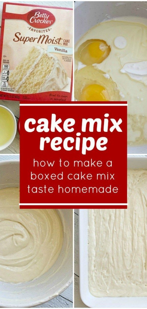 Cake Mix Recipe -   18 cake Mix hacks ideas